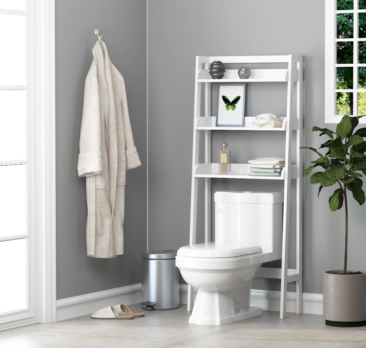 Utex 3 Shelf Bathroom Organizer Over, Bathroom Space Saver Over Toilet