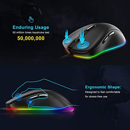 Buy DAREU Wired Gaming Mouse 6 Programmable Buttons 6400 DPI
