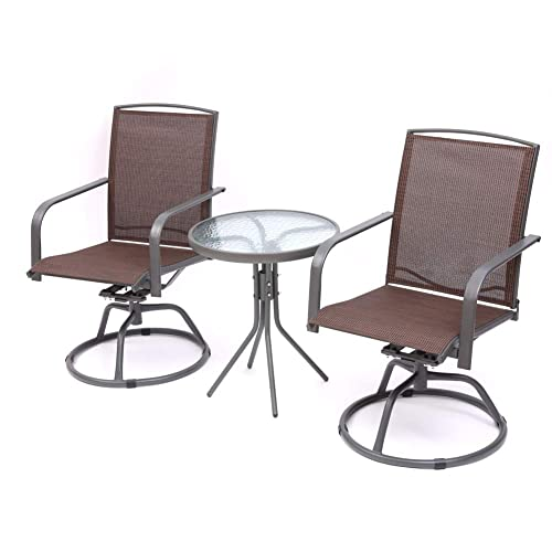 3 Pieces Outdoor Furniture Patio Table, Outdoor Patio Furniture Bar Height