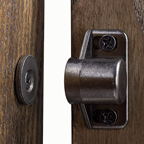 Buy Jjy 4 Pack Magnetic Cabinet Door Catch With Magnets For Cabinet Door Latch Closer Cabinet Magnetic Catch For Kitchen Closet Door Closing Magnetic Door Catch Closer Black Tone Gun Metal Online