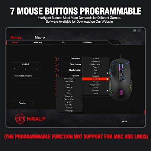 Buy HIRALIY FPS RGB Gaming Mouse with 10,000 DPI Adjustable