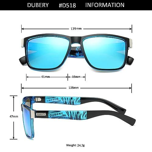a277e06c5011e PrevNext. PrevNext. DUBERY Vintage Polarized Sunglasses for Women amp Men  100% UV Protection Fashion Square Oversized Sunglasses