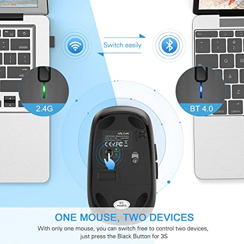 Buy Wireless Bluetooth Mouse, Jelly Comb Dual Mode Bluetooth 4 0