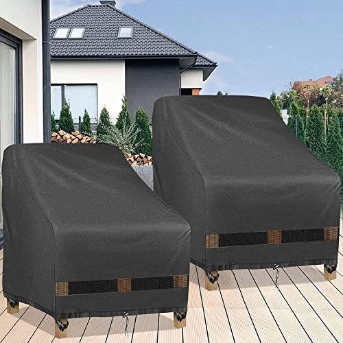 Gardrit Patio Chair Covers Heavy, Weather Resistant Patio Furniture Covers