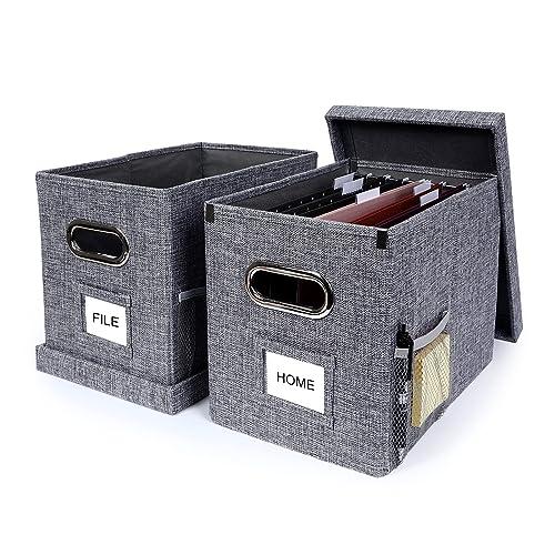 File Box Desktop Organizer, Desktop File Storage Box