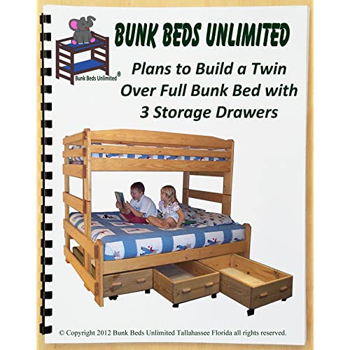 Buy Bunk Bed Woodworking Plan Not A Bed To Build Your Own Stackable Twin Over Full Bunk With Three Large Storage Drawers And Hardware Kit For Bunk And Three Drawers Wood Not