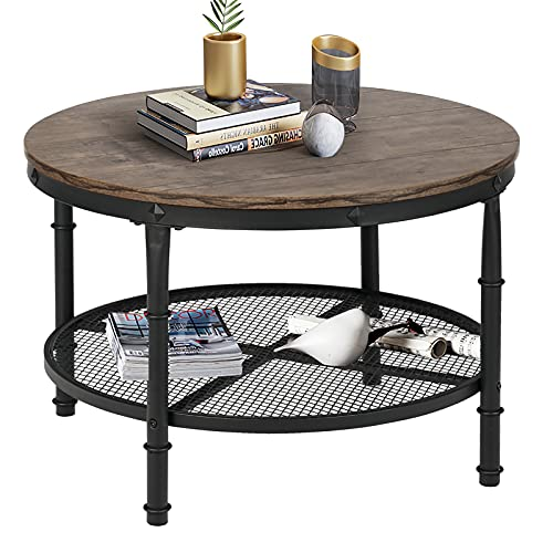 Sthouyn Small Round Coffee Table, Small Round Side Table With Drawer