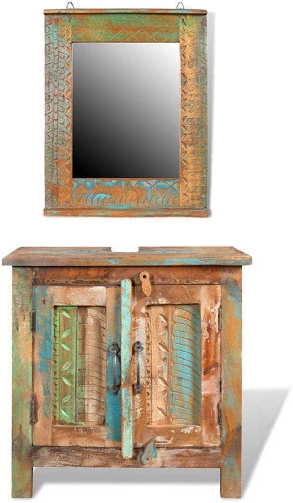 Tidyard Vintage Bathroom Vanity Cabinet, Handmade Bathroom Vanity